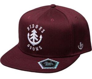 Bidges&Sons Snapback Cap 'Crew' burgundy-white - Bidges&Sons
