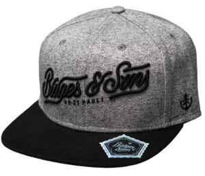 "Bidges&Sons Snapback Cap ""Pitcher"", grey - Bidges&Sons"