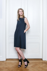 DARUMA Dress - Blueberry - Frieda Sand