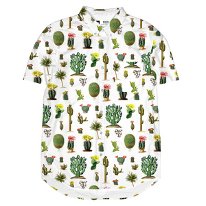 Short Sleeve Shirt Cactus white - DEDICATED