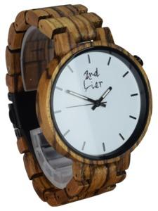 ⚒ Holzuhr ⚒ Handgemachte Armbanduhr aus Holz & Stein   42mm - 2nd Liar