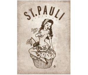 "Bidges&Sons ""St. Pauli Pin-up"" Poster, 50x70 cm - Bidges&Sons"