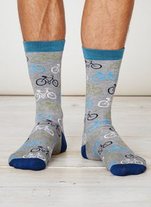 Cycler Socks - Grey Marl - Thought | Braintree