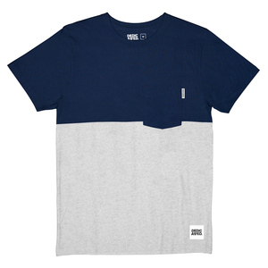 50-50 Navy & Grey T-Shirt - DEDICATED