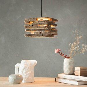 Hängeleuchte H2 aus Holzscheiben - einzigartiges Licht - ALMLEUCHTEN
