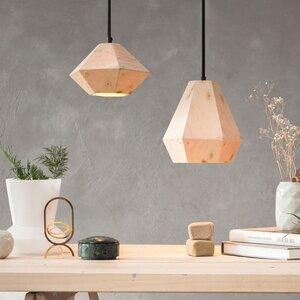hexagonale Design-Hängeleuchte H3 aus Holz - einzigartiges Licht - ALMLEUCHTEN