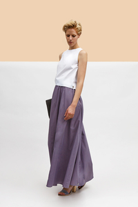 Maxi Skirt puder - LUXAA