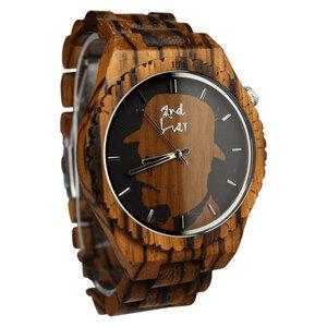 Holzuhr ⚒ handgemacht ⚒ aus Holz | Gehäuse-Ø: 44mm | vegan | fair - 2nd Liar