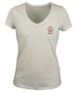 "T-Shirt V-Auschnitt ""Nelke"" - obumi"