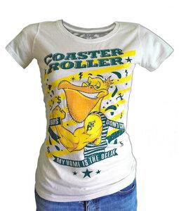 Girlie 'El Pelicano', T-Shirt aus Biobaumwolle, Vintage washed - Coaster Roller