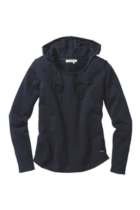 Knitted Hoodie navy - recolution