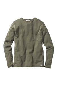 Strickpullover #POCKET light olive - recolution