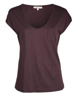 V-Neck Shirt aubergine - Alma & Lovis
