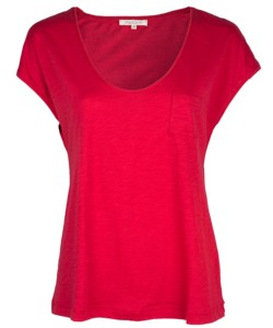 V-Neck Shirt poppy red - Alma & Lovis
