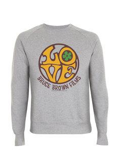 Bruce Brown Films 1960's Graphic Love Raglan Sweat Shirt, Pullover, S - XXL  - California Black Plate