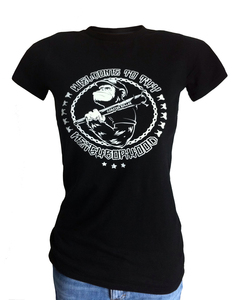Girlie 'Matt Monkey', T-Shirt aus Biobaumwolle - Coaster Roller