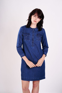 Colette Denim Shirt Dress  - bibico