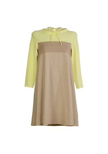 Convertible A-linedress - zitrone+ taupe - Les Crevettes