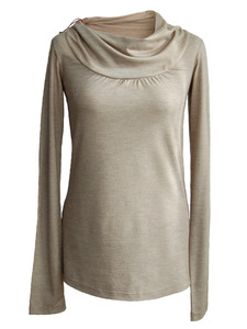 Bluse Heart Flow Beige - woodlike