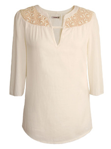 ROMANTIC LACE – Bluse  - woodlike