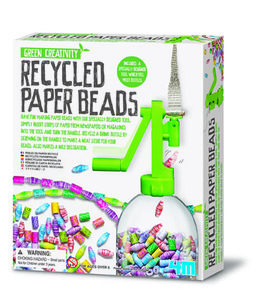 Recycled Paper Beads - recycelte Papierperlen - - Green Science