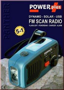 Panther Solar-Radio mit Dynamo und USB - Powerplus