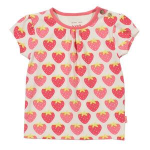 Mädchen T-Shirt Erdbeere weiß pink Bio Baumwolle - Kite