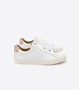 SNEAKER ESPLAR LEATHER TILAPIA WHITE BEIGE - Veja