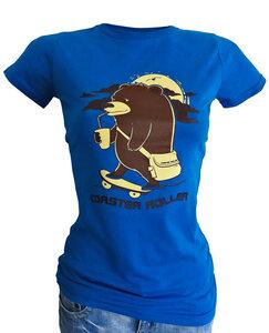 Girlie 'Der Skatebär', T-Shirt aus Biobaumwolle - Coaster Roller
