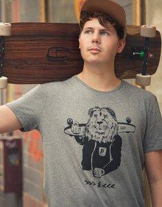 Leo Longboard - Fair gehandeltes T-Shirt - Heather Grey - päfjes