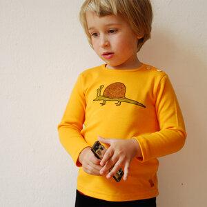 Kinder longsleeve Schnigel gelb - Cmig