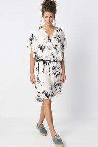 RANEE Women dress- weiß geblümt - skunkfunk