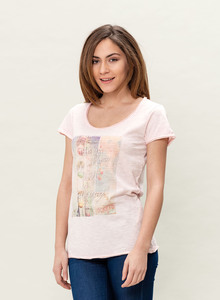 WOR-3021 DAMEN G.DYED T-SHIRT - ORGANICATION