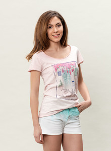 WOR-3022 DAMEN G.DYED T-SHIRT - ORGANICATION