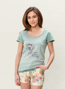 WOR-3023 DAMEN G.DYED T-SHIRT - ORGANICATION
