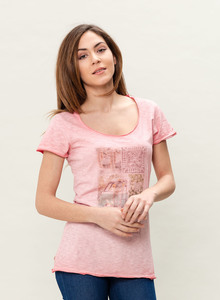WOR-3025 DAMEN G.DYED T-SHIRT - ORGANICATION