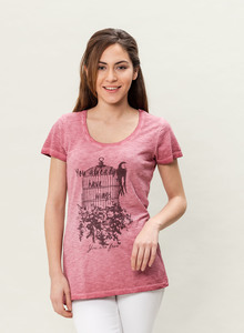 WOR-3033 DAMEN G.DYED T-SHIRT - ORGANICATION