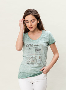 DAMEN G.DYED T-SHIRT - ORGANICATION