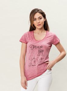 WOR-3076 DAMEN G.DYED T-SHIRT - ORGANICATION