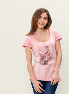 WOR-3087 DAMEN G.DYED T-SHIRT - ORGANICATION