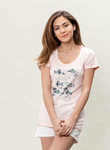 WOR-3091 DAMEN G.DYED T-SHIRT - ORGANICATION