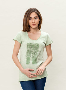 WOR-3184 DAMEN G.DYED T-SHIRT - ORGANICATION