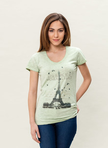 WOR-3186 DAMEN G.DYED T-SHIRT - ORGANICATION