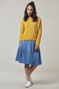 ROSINA skirt - IKAT BLUE - Komodo