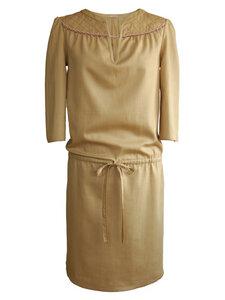 SAVANA Kleid- beige  - woodlike