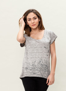 WOR-3020 DAMEN G.DYED T-SHIRT - ORGANICATION