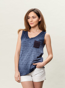 WOR-3029 DAMEN GARMENT DYED TANK TOP - ORGANICATION