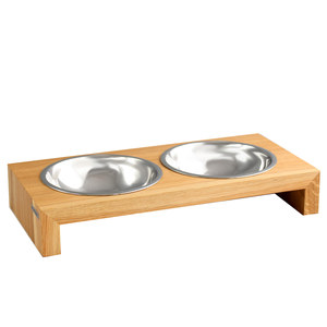 Design Hundebar aus Holz, Buche oder Nussbaum - NATUREHOME