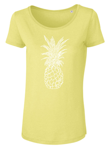 Ananas Women Shirt aus Modal / Fair / Bio _yellow - ilovemixtapes