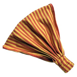 auffächerbares Haarband, gelb/orange geringelt - bingabonga